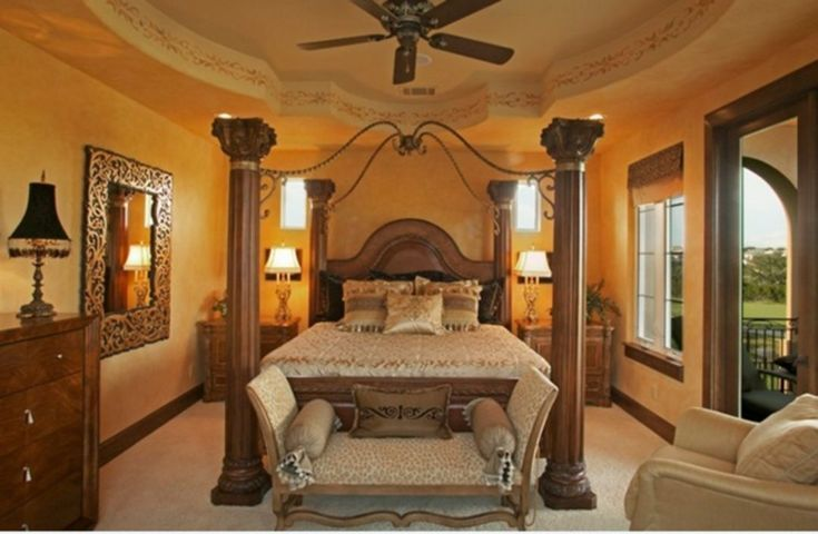 20 Tuscan Style Bedroom Decorative Ideas That Make Your Sleep Warm
