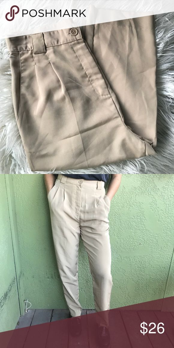 American Apparel trousers High-waisted, 100% polyester, ankle cut American Apparel Pants Trousers