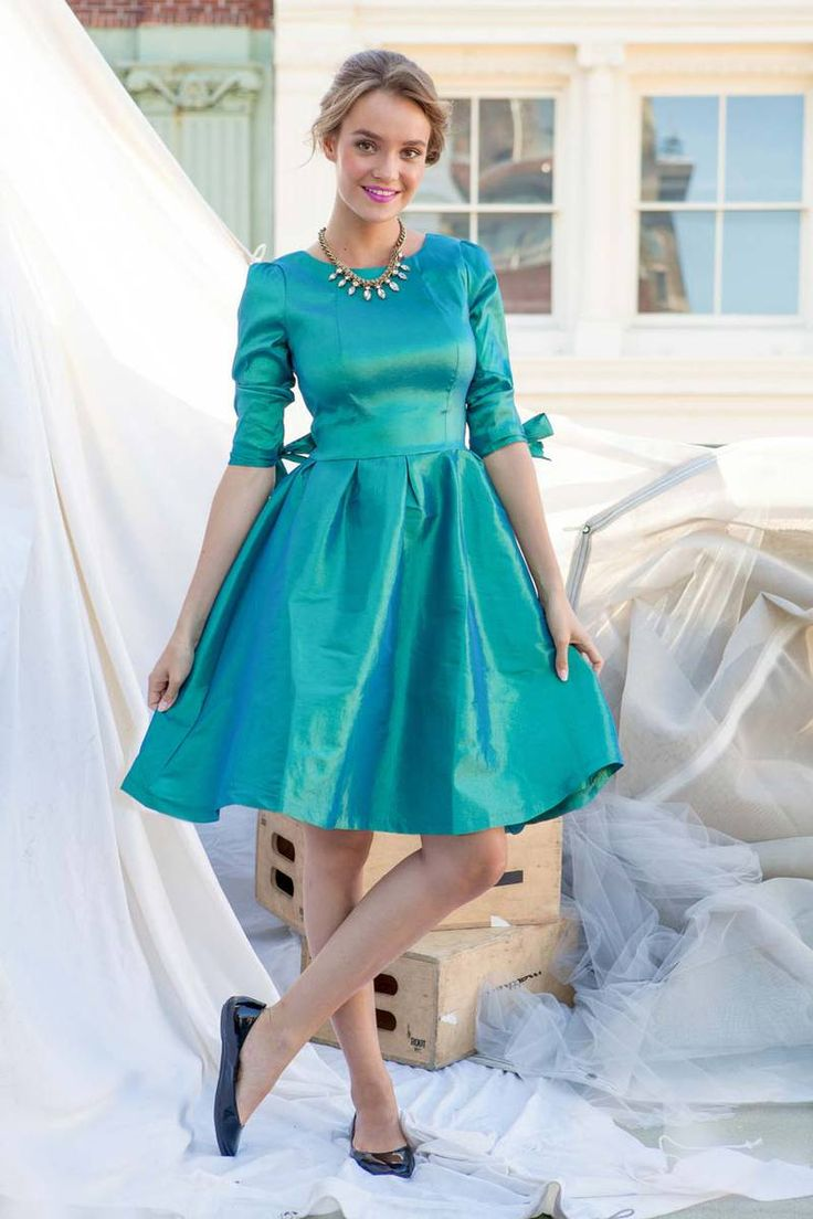 Green Tafetta Nutcracker Dress from the Bridesmaid Collection by Shabby Apple