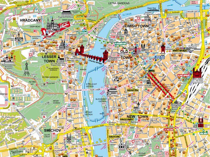 Praha   Loved this map.