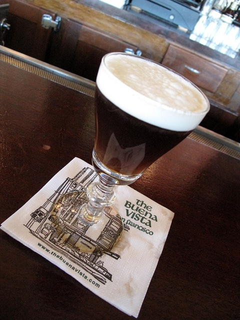 Irish Coffee from the Buena Vista in San Francisco