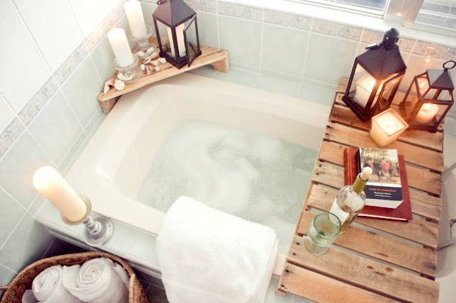 10 Tips for Turning Your Bathroom Into a Spa via Brit + Co.