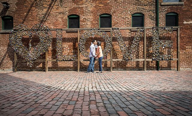 Why You Should Consider Toronto's Distillery District for Your Engagement Photos