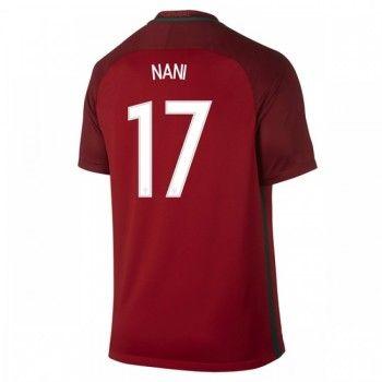 Portugal 2016 Luis Nani 17 Hemmatröja Kortärmad   #Billiga  #fotbollströjor