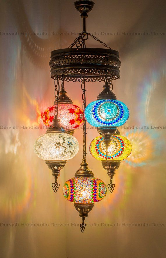 Turkish Lamp Chandeliers 28 Height Moroccan Lamp Ceiling Light