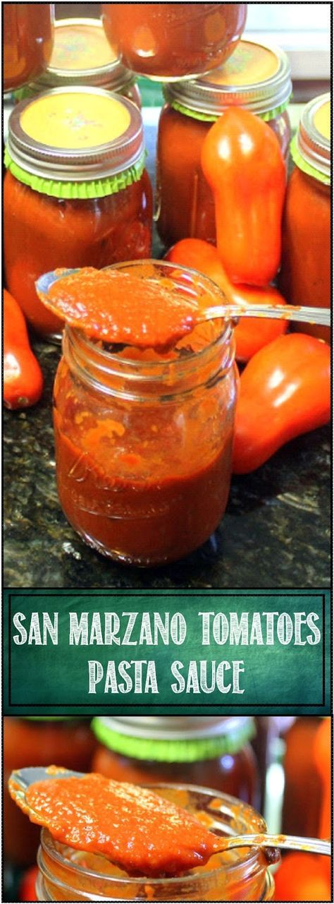 San Marzano Tomato Sauce - 52 Authentic Italian Recipes CROCK POT EASY Canning Ideas... This is the TRUE ITALIAN GRANDMOTHER recipe, perfect fresh tomatoes, add extra veggies (onion and peppers) and Italian spices and you have a GREAT SAUCE ... Can enough to last a year!