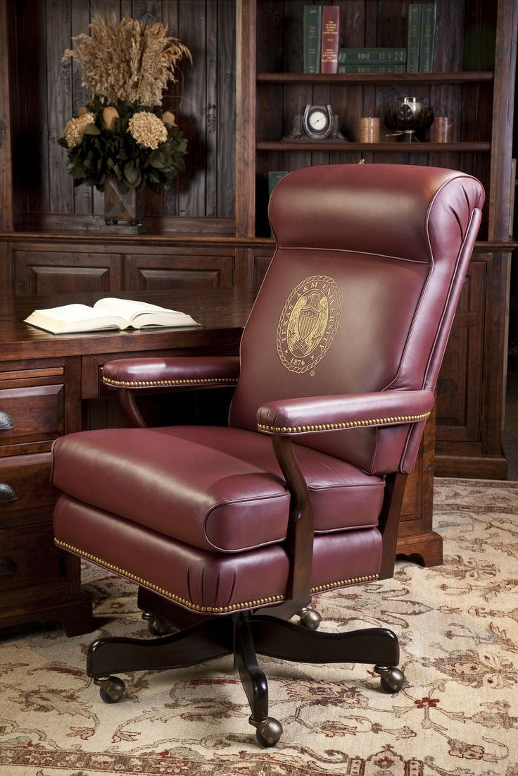 Brumbaugh S Is Pleased To Offer This Unique Executive Chair With The Aggie Ring Crest We Know