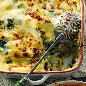 7 februari - Mozzarella in de bonus - Recept - Preilasagne met spek - Allerhande