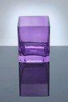 """Block Glass Vase 4"""" x 4"""" x 5"""", Lavender, 12 p/c DFW Wholesale Glass"""