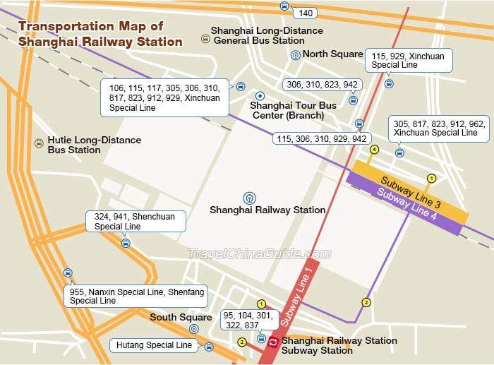 Shanghai Railway Station Subway Map.Shanghai Railway Station Bus Transfer Map China Map In 2019