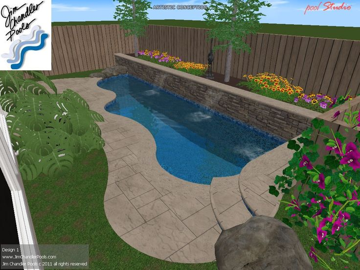 Big ideas for small yards swimming pool design ideas for for Pool designs for small yards