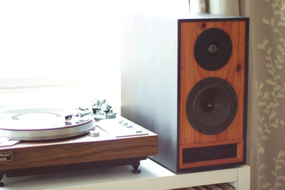 Redwood Bookshelf Speakers - Pro Level T-Line Speaker Design - Living Room Sound System Speakers - Set of Two Passive Speakers