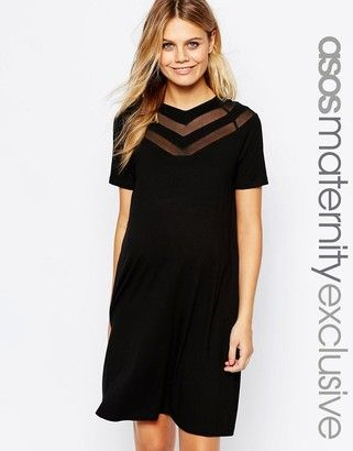 Asos Maternity Chevron T Shirt Dress
