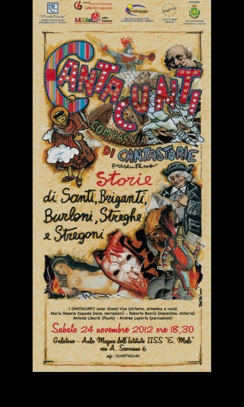 Illustrazione /Collage Per CANTACUNTI Compagnia Di Cantastorie * autore Toto Dinoi *Manduria* Ta * Puglia * Italia *