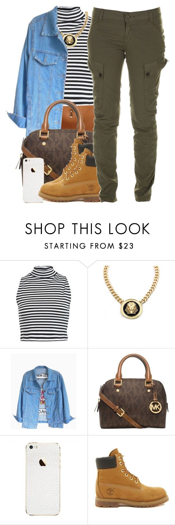 """""""January 4, 2k15"""" by xo-beauty ❤ liked on Polyvore featuring Miss Selfridge, Roial, Michael Kors, Timberland and Firetrap"""