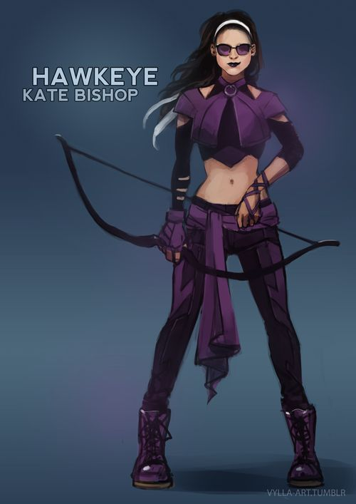 Fanart. Kate Bishop. Young Avengers Hawkeye - Redesign by Vylla