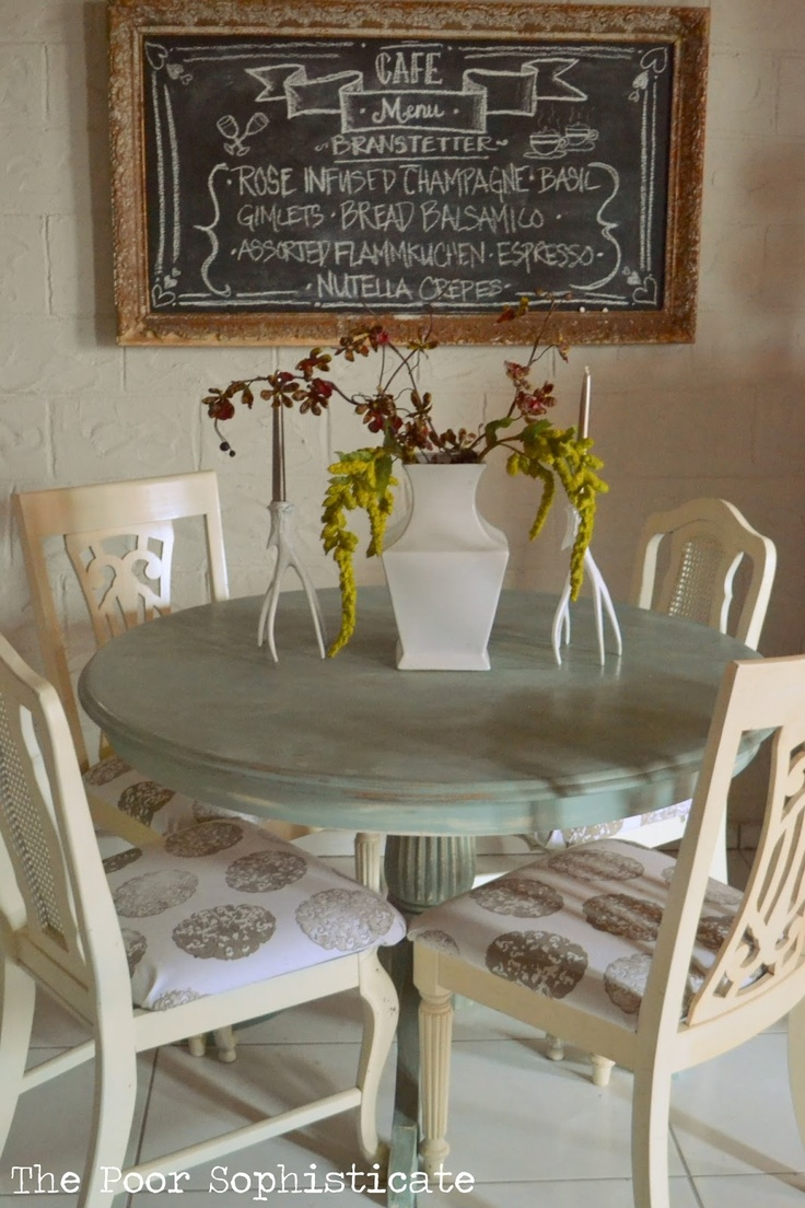 Small round kitchen table   best Painted furniture images on Pinterest  Furniture redo
