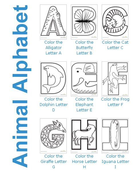 Color the Animal Alphabet Printables