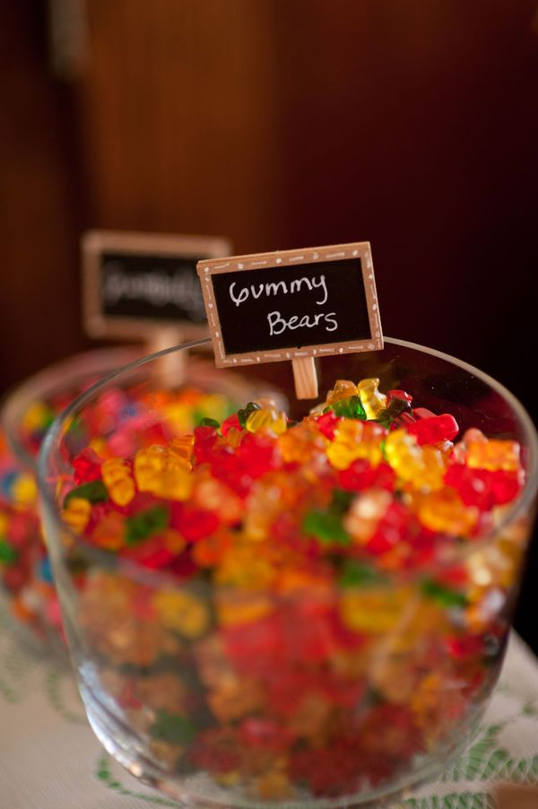 Gummy Bears - non traditional wedding food