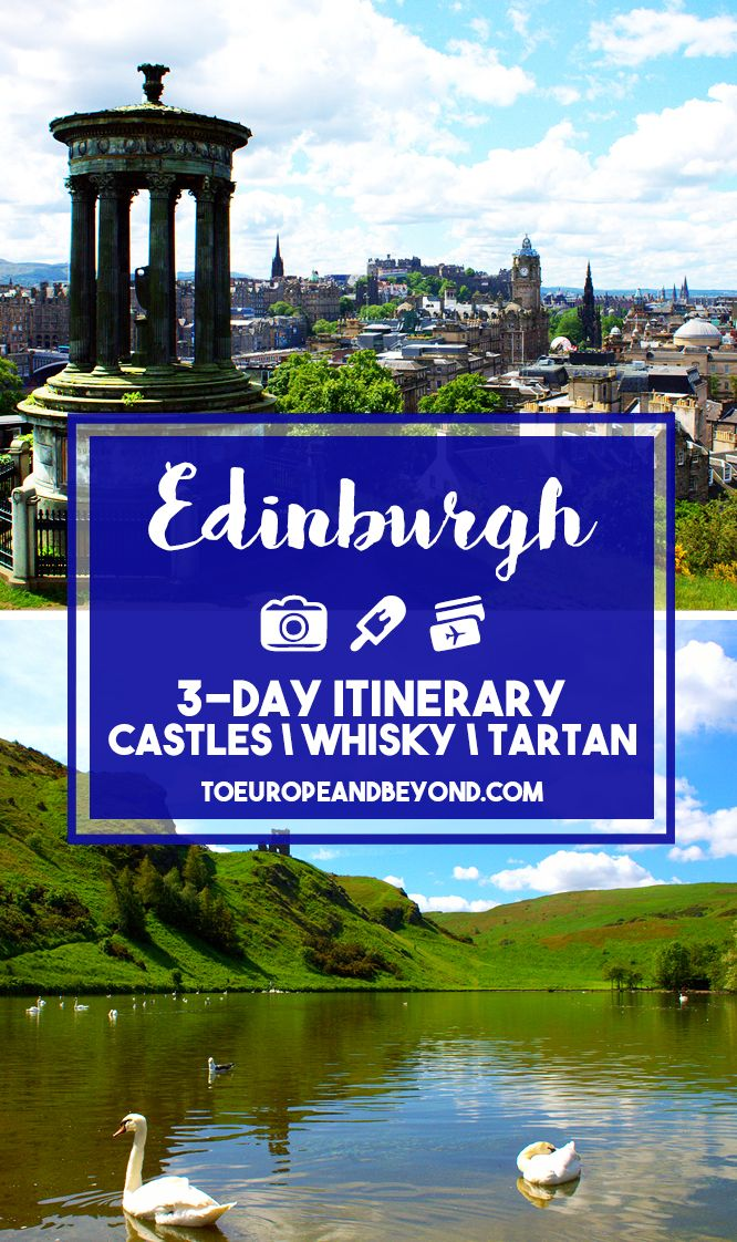 How to spend 72 hours in the Scottish metropolis: an itinerary including classics like whisky, Harry Potter trivia, and more http://toeuropeandbeyond.com/things-to-do-in-edinburgh/ #travel #Scotland