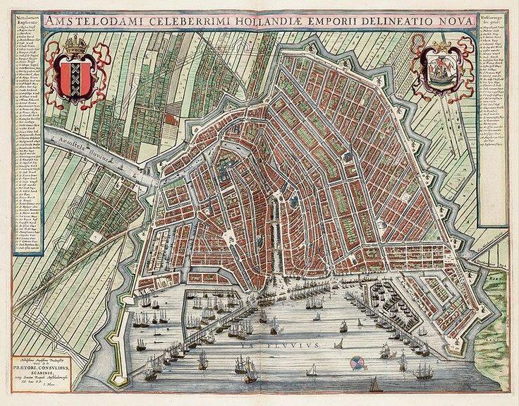 Leo Sondaar Leosondaar On Pinterest - Antique maps amsterdam