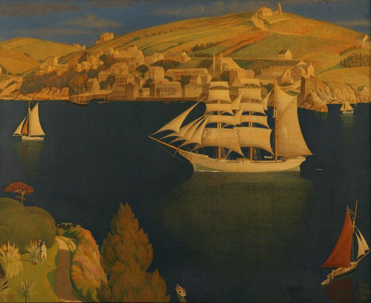 The Old Seaport - Joseph Edward Southall 1919