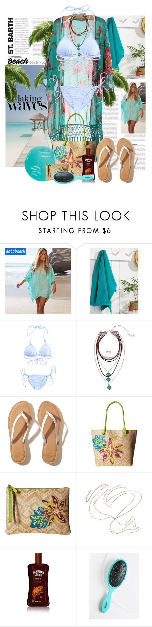 """""""Making Waves"""" by summersunshinesk7 ❤ liked on Polyvore featuring Sunset Hours, Balmain, Simons Maison, Indian Ocean, Melissa Odabash, M&F Western, Hollister Co., Vera Bradley, Hawaiian Tropic and Free People"""