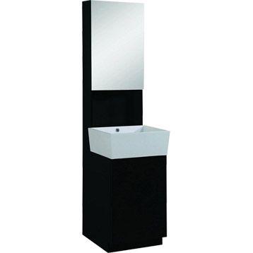 Meuble sous vasque ludic sensea noir noir n 0 leroy - Leroy merlin salle de bain meuble sous vasque ...