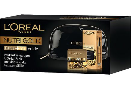 LOréal Paris - L'Oréal Paris Nutri Gold Extraordinary hoitoöljy + öljyvoide tupla pakkaus