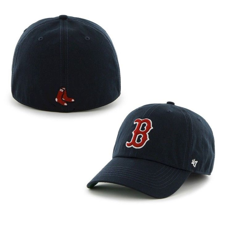 boston red sox 47 brand premium franchise fitted hat navy blue med size only