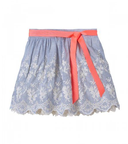 Ruum Little Girls' 2-4 Stripe Embriodered Skirt Powder Blue 3Y  - Click image twice for more info - See a larger selection of little girl skirt at  http://girlsdressgallery.com/product-category/skirt/ - girls,toddler,little girls clothing, little girls fashion, little girls dress, little girls fashion, baby, gift ideas