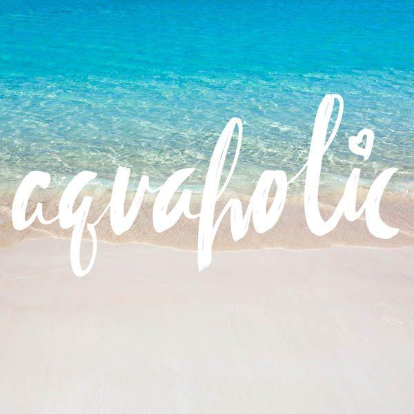 Are you an aquaholic? #beachquotes #beachlife #quotes #beachliving #coastalquotes #lakequotes Are you an aquaholic? <a class=