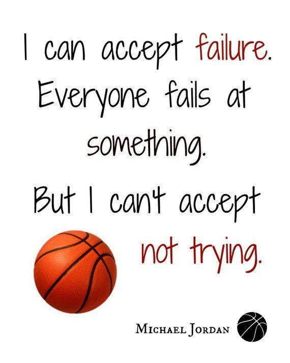 Basketball-Drucke, ich kann es nicht akzeptieren, nicht zu versuchen, Talent kann nicht hart arbeiten, ein großartiger Trainer kann ein Leben verändern, Basketball-Kunst, 4 Digitaldrucke   – Products