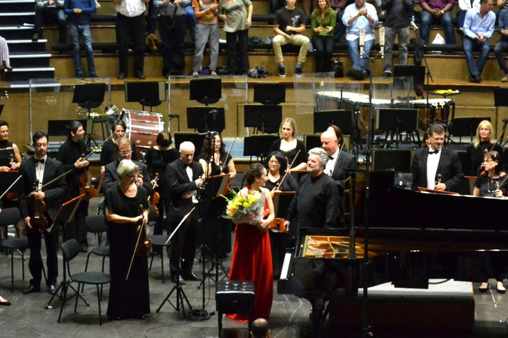 Natalia Lavrova played the Shostakovich Concerto for Piano & string Orchestra with trumpet, featuring David Thompson, with the Cape Town Philharmonic Orchestra conducted by Bernhard Gueller, 2015