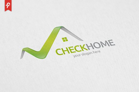 Check Home Logo by ft.studio on Creative Market