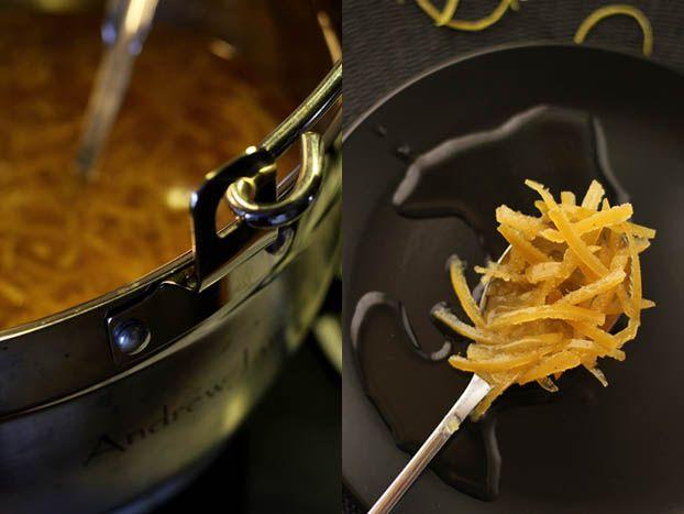 Lemon shred marmalade cooking up