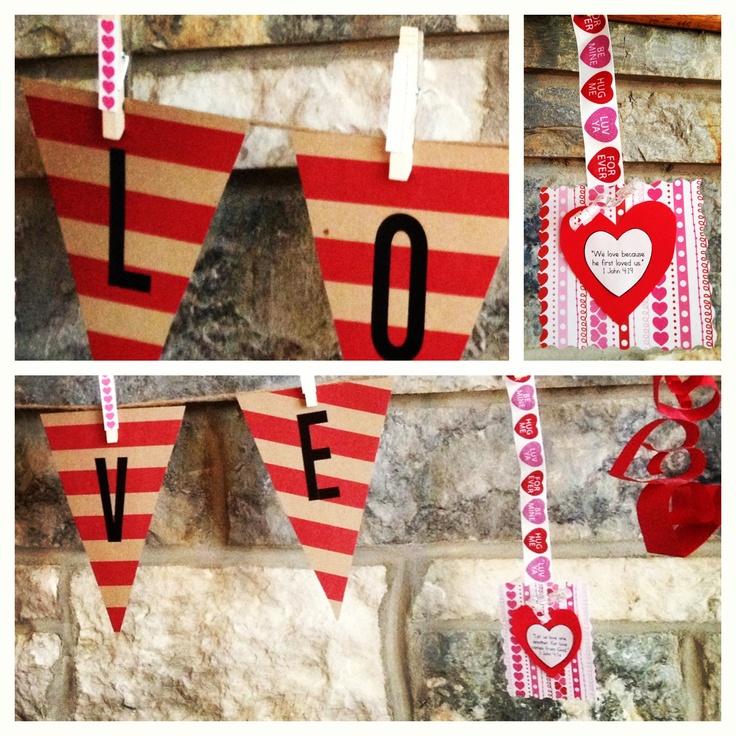 Valentines Day Banner: Valentines Ideas, Valentines 2014, Saint Valentines, Banners Inside, Valentines Day, Valentines Mantles, Pin Valentines, Mantles Banners, Happy Valentines