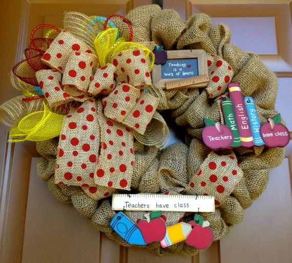 Classroom Wreath Ideas ~ Ideas about teacher wreaths on pinterest classroom