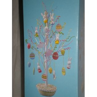 New Creative Easter Tree with 24 Ornaments, 18
