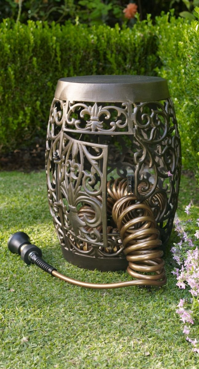 Featuring An Attractive Fleur De Lis Design, This Decorative Storage  Solution Beckons You To Pause And Sit Awhile In The Gardenu2014yet It Also  Stores Our ...