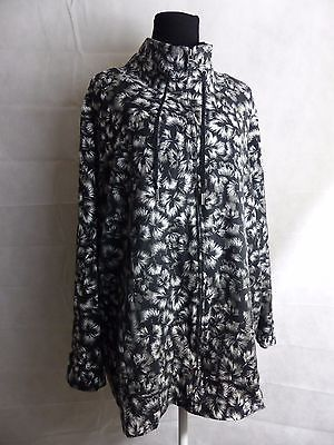 Basic Editions Womens Zip Up Cotton Blend Black Gray White  Size 3X