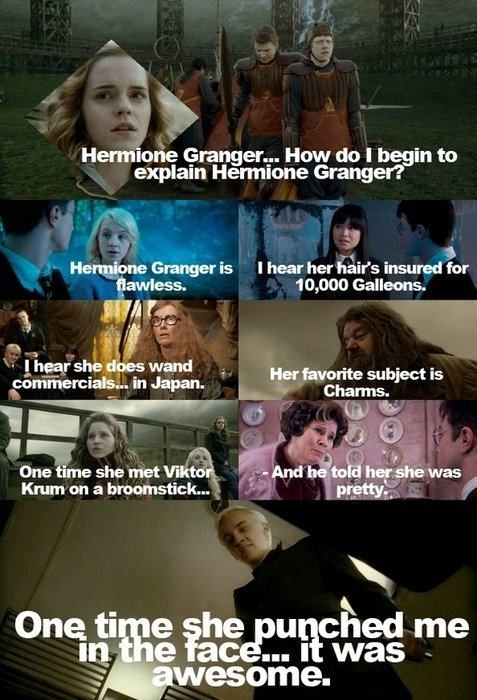 Hermione Granger- this is REALLY funny