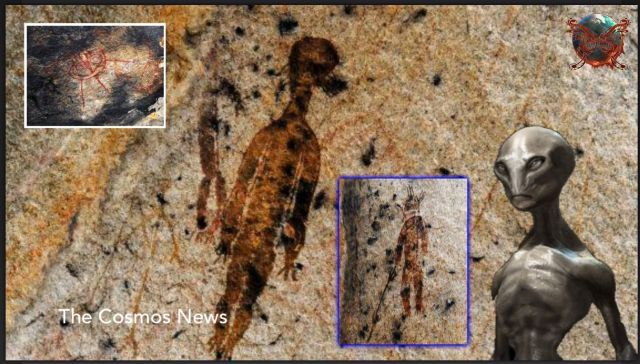 10,000 Year Old Rock Paintings Evidence of Extraterrestrials & UFOs In India? (Video)