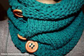 Knitted neckwarmer