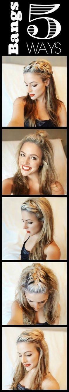 Long hair in your face?  Need to make styling it easier?  If you want to do more than pull it back into your go to ponytail every day maybe some quick and easy alternatives would be appreciated.  There are five here and more inspiration to be found at TerrificTresses.com.