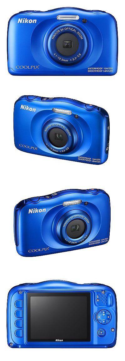 Camera Photo: Nikon Coolpix W100 13.2 Mp Waterproof Shockproof Digital Camera (Blue) New -> BUY IT NOW ONLY: $139.36 on eBay!