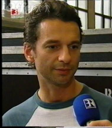 Dave Gahan of Depeche Mode during Paper Monsters - German TV - Bavaria (Bayrischer Rundfunk)