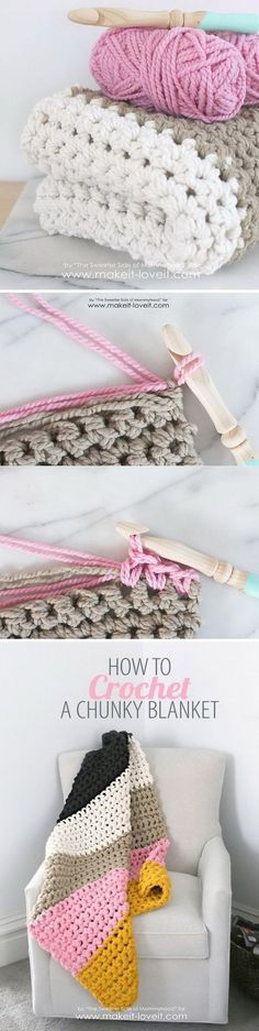 Chunky Crochet Blanket.