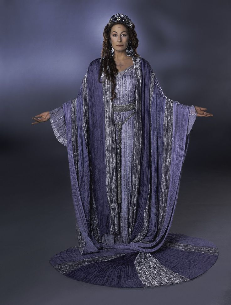 Angelica Huston as Vivianne in The Mists of Avalon (2001).  50 when filmed.