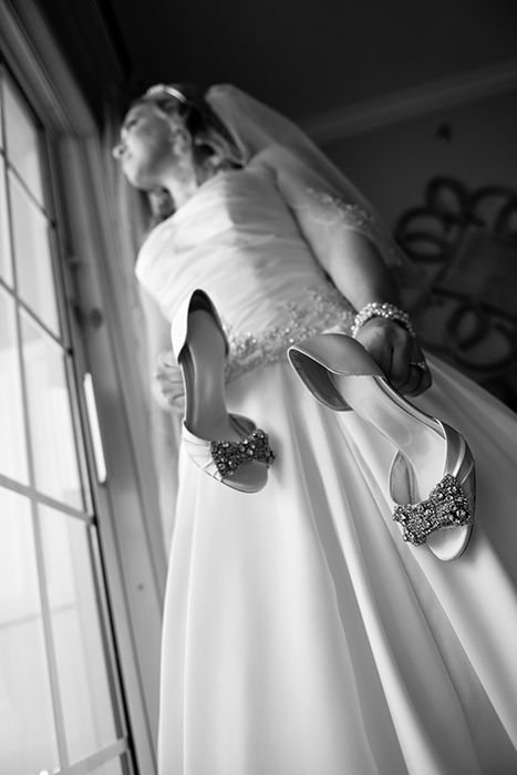 Walt Disney World bridal shoes with hints of bling. Photo: Stephanie, Disney Fine Art Photography
